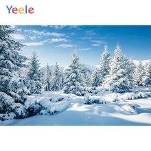 Yeele 冬の雪嵐森風景ビュー画像パーソナライズ写真の背景写真スタジオの背景