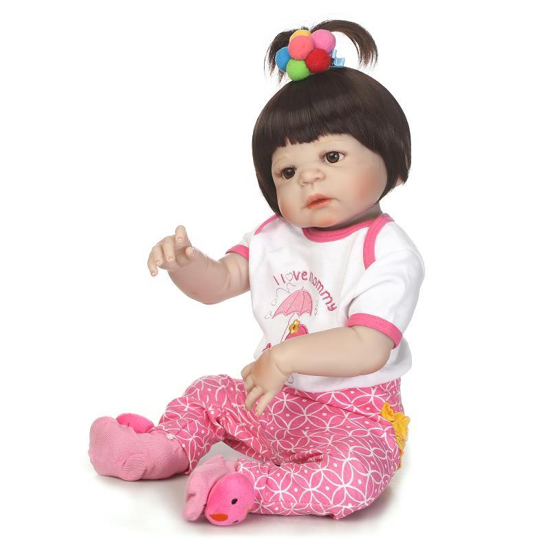 NPK reborn poupée avec doux vrai toucher doux corps complet silicone poupées silicone vinyle bebe nouveau né réel reborn bébé-in Poupées from Jeux et loisirs    3