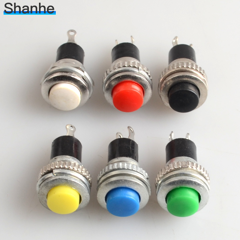Image 4 - 6pcs Momentary 0.5A 250VAC Remote Control Push Button Switches 10mm self returning switches-in Switches from Lights & Lighting