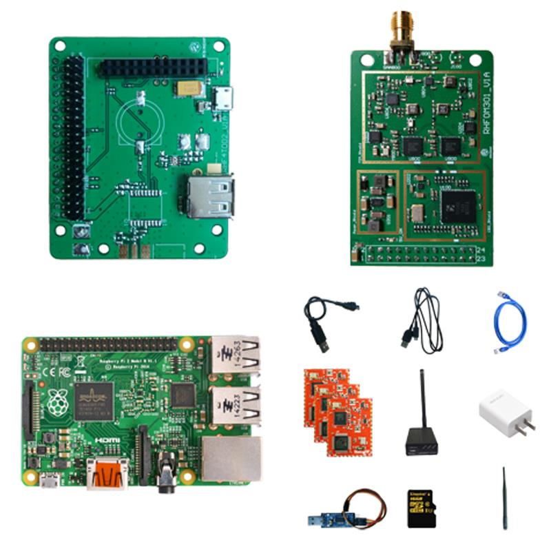 LoRaWAN development kit SX1301 SX1276 consists of two parts: front-end suite and cloud service