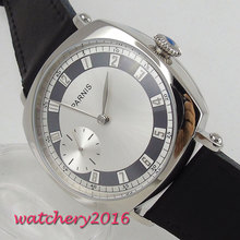 цена Free Shipping 44mm classic White dial parnis Stainless steel asia 6497 movement Mechanical Watches hand winding mens watch онлайн в 2017 году