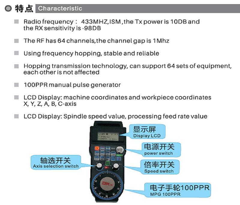 CNC Mach3 Controller Handwheel  for CNC Machine lathe USB support 4 6 axis