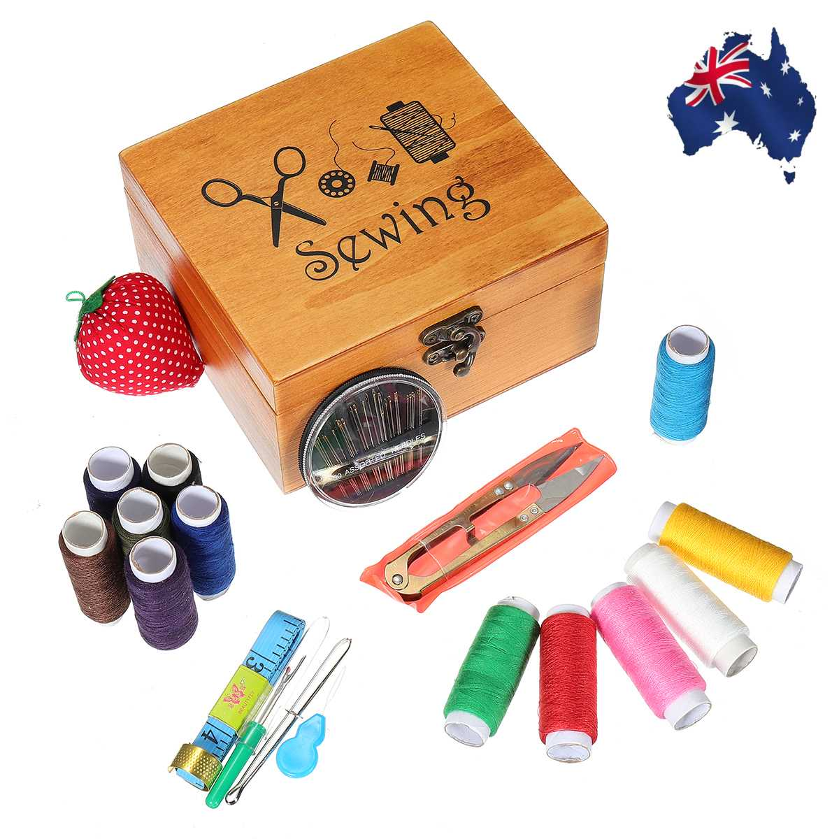 20Pcs/Set Portable Travel Sewing Box Kitting Needles Tools Quilting Thread Stitching Embroidery Craft Sewing Kits Home Organizer