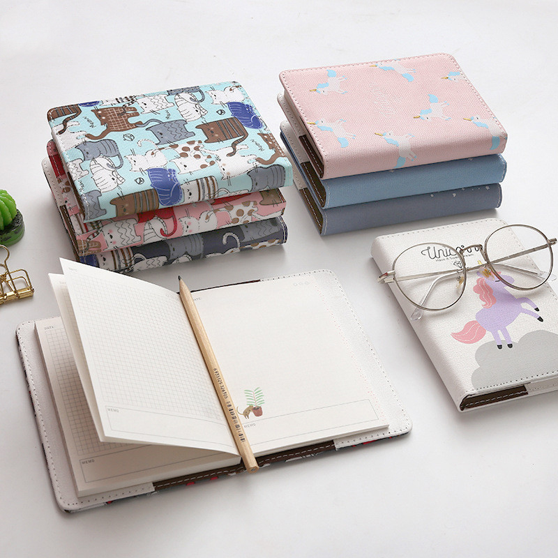 Kawaii Unicorn Cat Notebook Stationery Diary Agenda Pocket Notepad Planner Weekly Book Painting Travel School Supplies sl1374 цена и фото