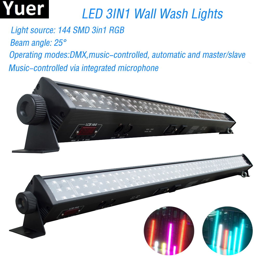 NEW Disco Light RGB 3IN1 Led Wall Wash Light DMX Led Bar DMX Line Bar Wash Stage Light For Dj Disco Led Party Bar Lights