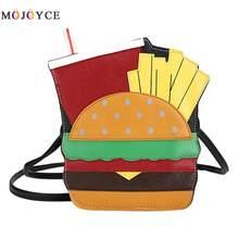 742235d1d585 2018 Горячая Милая личность мультфильм Форма Сумка женская кожаная цепь  сумка кактус гамбургер арбуз(China