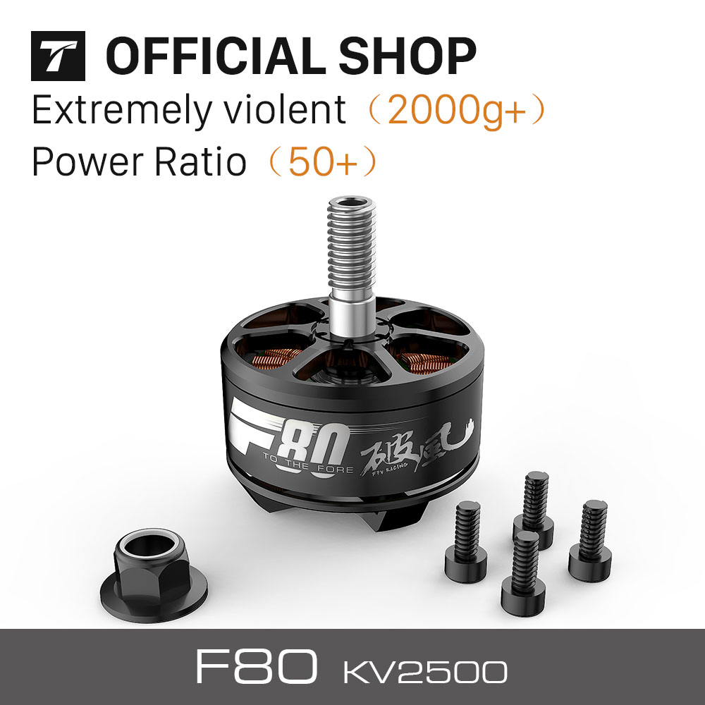 T-MOTOR New FPV Racing Motor F80 KV2500 for Drone( 2PCS/SET) лоферы lauritta лоферы
