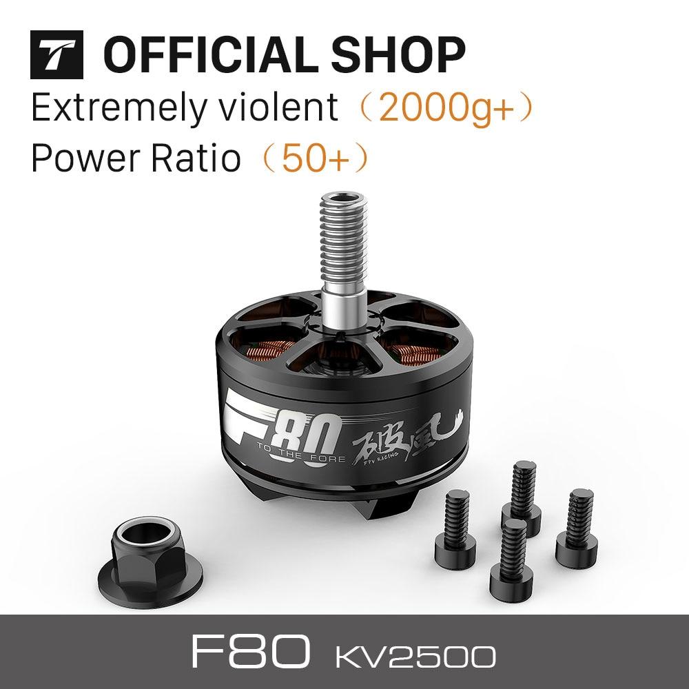 T-MOTOR New FPV Racing Motor F80 KV2500 for Drone( 2PCS/SET) 2pcs kv b16ra
