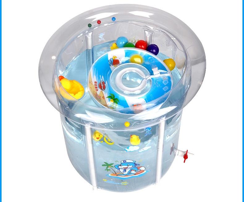 Épaissir respectueux de l'environnement transparent support piscine piscine de bébé à la maison enfants