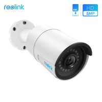 Reolink PoE IP Camera Outdoor PoE 4MP 5MP SD card slot Onvif Built in Mic HD night vision Waterproof HD security camera RLC 410