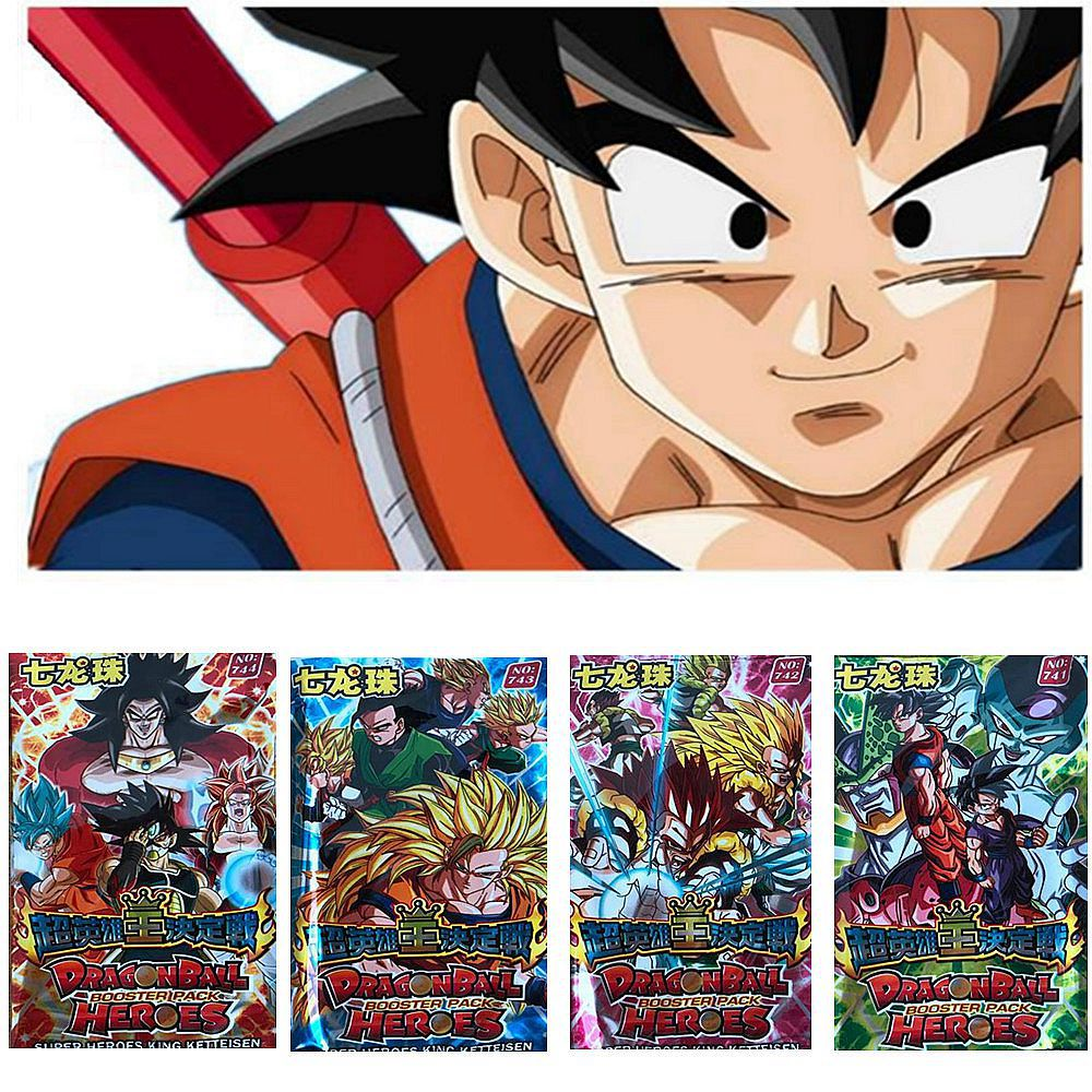 Us 2 69 10 Off 32 Pcs Lot Dragon Ball Collection Cards Super Saiyan Goku Vegeta Super Heroes King Trading Card Kid Gift Toy In Action Toy Figures