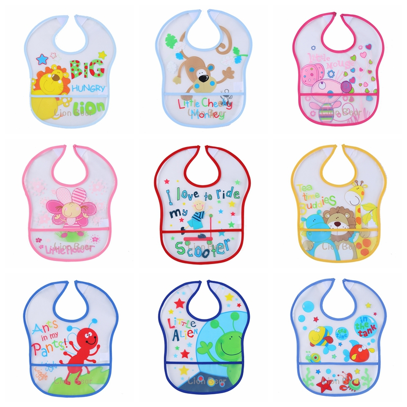 Baby Bibs Waterproof Bib EVA Baby Feeding Infants Fashion Bandana Baby Bibs Babet for Lunch Boy Grils Clothes