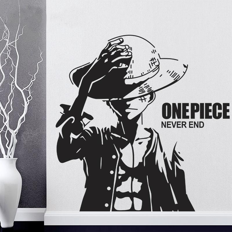 Baru Kedatangan Gratis Pengiriman One Piece Luffy Kartun Dinding Stiker Vinyl Wall Art Wallpaper Dekorasi Rumah Mural Dinding Stiker Cartoon Wall Stickers Wall Stickerdecoration Murale Aliexpress