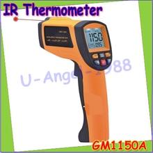 Hurtownie 1 sztuk Profesjonalne on-Kontakt Termometr Laserowy GM1150A Punktowy Laser Pirometr Temperatura-18 ~ 1150 stopni Dropshipping