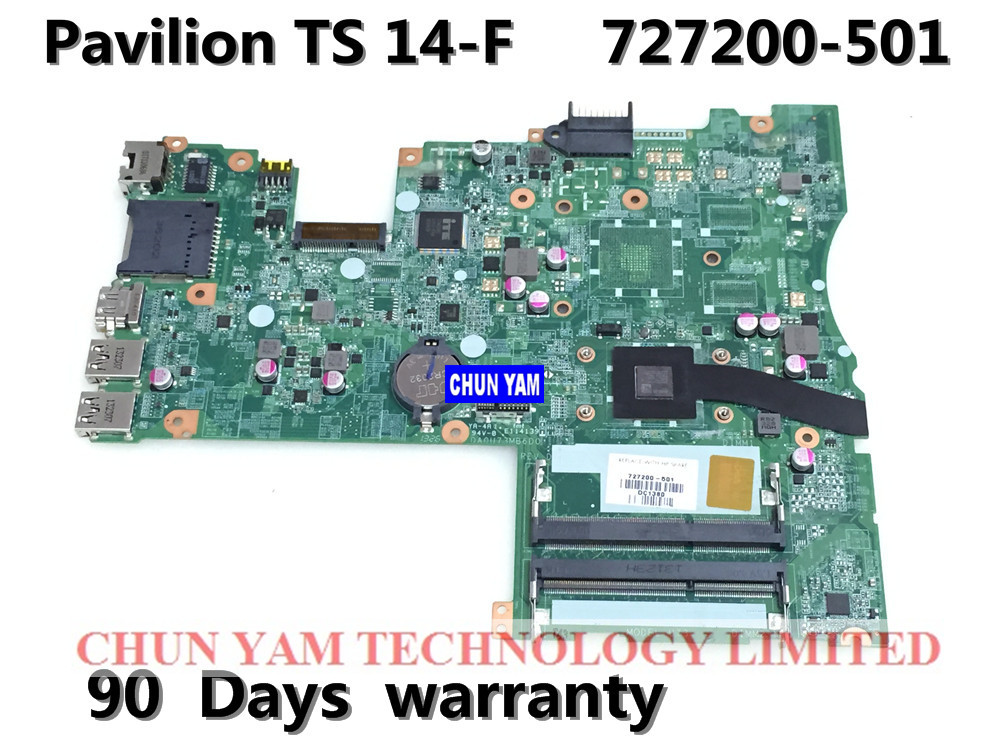 ФОТО 727200-501 for HP PAVILION TOUCHSMART 14-F 14Z-F motherboard DA0U73MB6D0 REV:D A6-5200 mainboard  90Days Warranty 100% tested