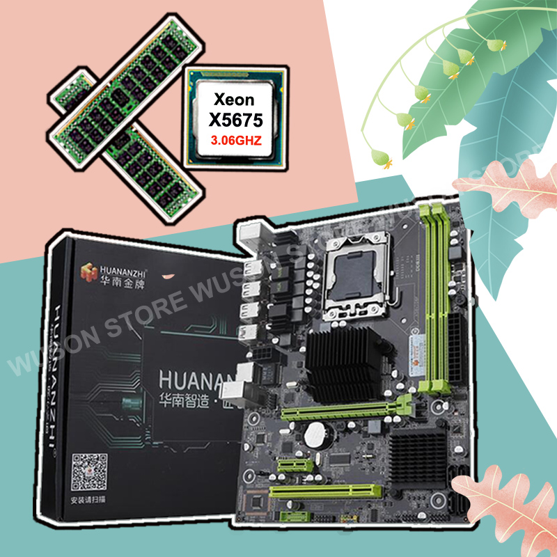 New arrival Brand new X58 motherboard HUANANZHI discount X58 Pro LGA1366 motherboard with CPU Intel Xeon