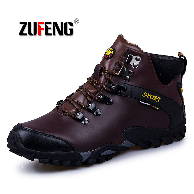 Sneakers Waterproof Hiking Shoes For Men Suede Mountain Climbing Shoes Quality Trekking Shoes Breathable Hiking Hunting Boots 47