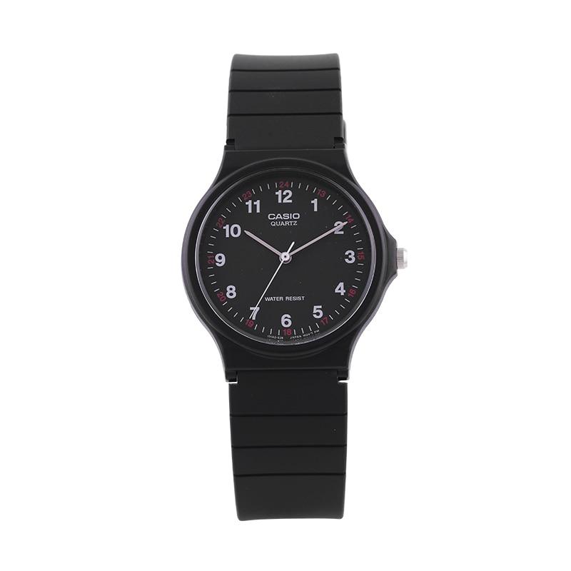 Casio Watch Pointer Series Black Quartz Men And Women Watch MQ-24-1B