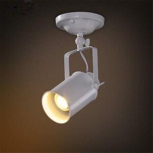 Image 2 - Lampa sufitowa amerykański Retro kraju w stylu Loft LED lampy przemysłowe żelazo, w stylu Vintage sufitowe oświetlenie baru Cafe oświetlenie domu