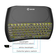 Backlight 2 4GHz Wireless Air Mouse D8 Pro English Russian Spanish D8 Plus Mini Keyboard i8 Touchpad Control for Android TV BOX cheap VONTAR Desktop Number Laptop Conductive Rubber Multimedia GAMING For Laptop Multifunctional Keyboard Numeric Keyboard D8 RPO
