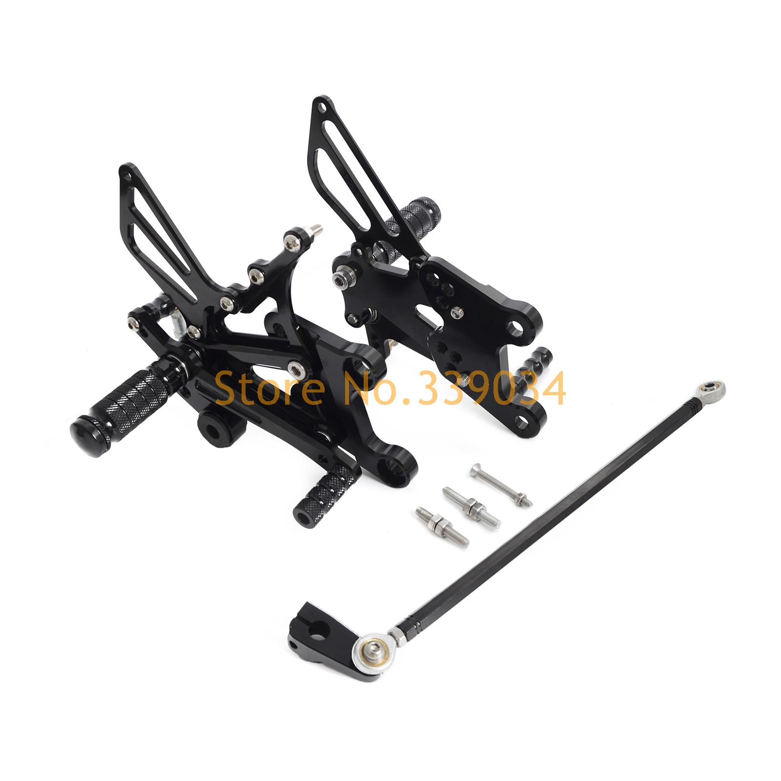 Racing Adjustable Rearsets Foot Rest Peg Rear Set For For Yamaha  YZF-R125 2008-2013 Black Gold SliverRacing Adjustable Rearsets Foot Rest Peg Rear Set For For Yamaha  YZF-R125 2008-2013 Black Gold Sliver