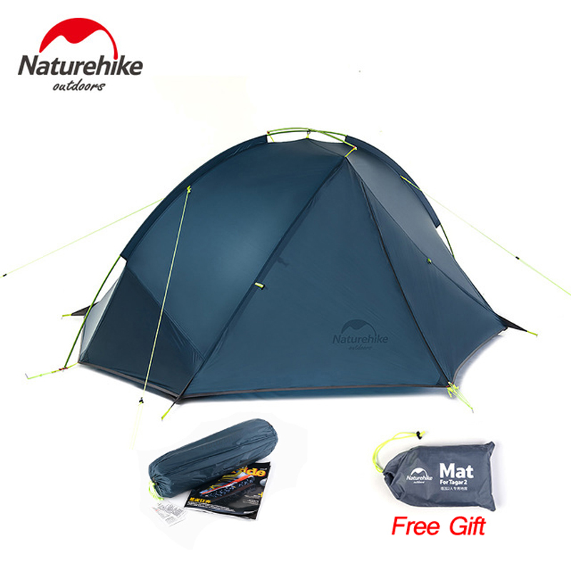 NatureHike 20D Waterproof Ultralight 1-2 Person Camping Tent, Double Layer 3 Season Backpacking Tent, Tents For Camping Hiking naturehike outdoor camping tent 2 person 3 season double layer barraca camping tente waterproof ultralight tents