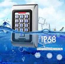 กันน้ำ IP68 RFID Card Access Controller พร้อมด้วย Wiegand 26 เอาต์พุตทำงานแรงดันไฟฟ้า DC9V 28V Backlight ปุ่มโลหะเข้าถึง