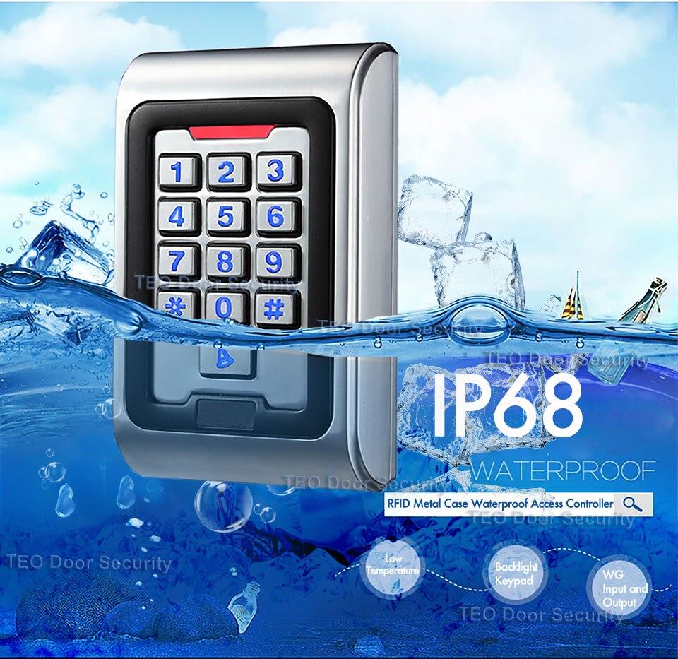 Wasserdicht IP68 RFID Karte Tür Access Controller Mit Wiegand 26 Ausgang Arbeit Spannung DC9V zu 28 v Hintergrundbeleuchtung Keys Metall zugang
