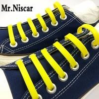 Mr Niscar 1Set 12Pcs Hot Sale Fashion Yellow No Tie Elastic Shoe Lace Silicone Sneaker Shoes