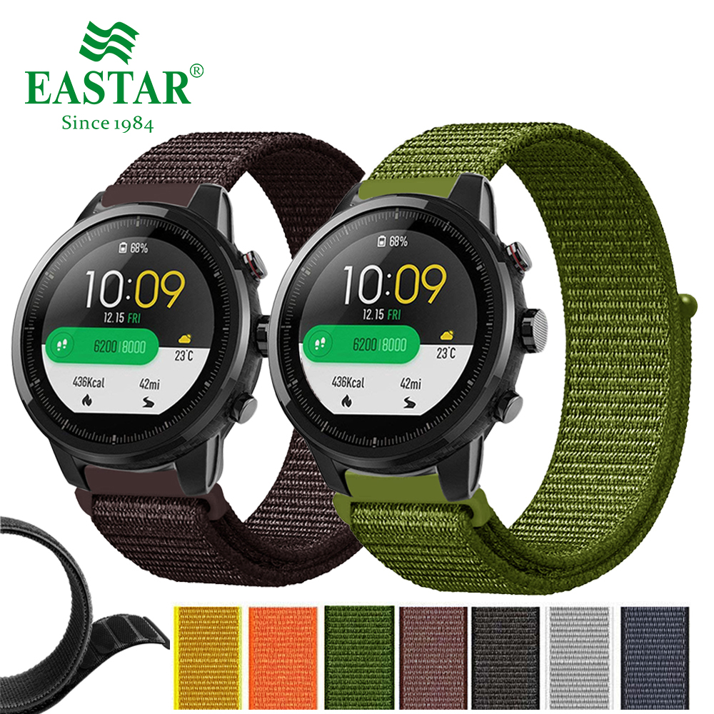 Nylon Woven Watch Band Colorful Replacement 22mm Watch Strap for Amazfit Stratos Pace 2 for Xiaomi Huami Amazfit Pace Bracelet camo silicone watch band strap for xiaomi huami amazfit pace 22mm smart watch camouflage replacement wrist band strap bracelet