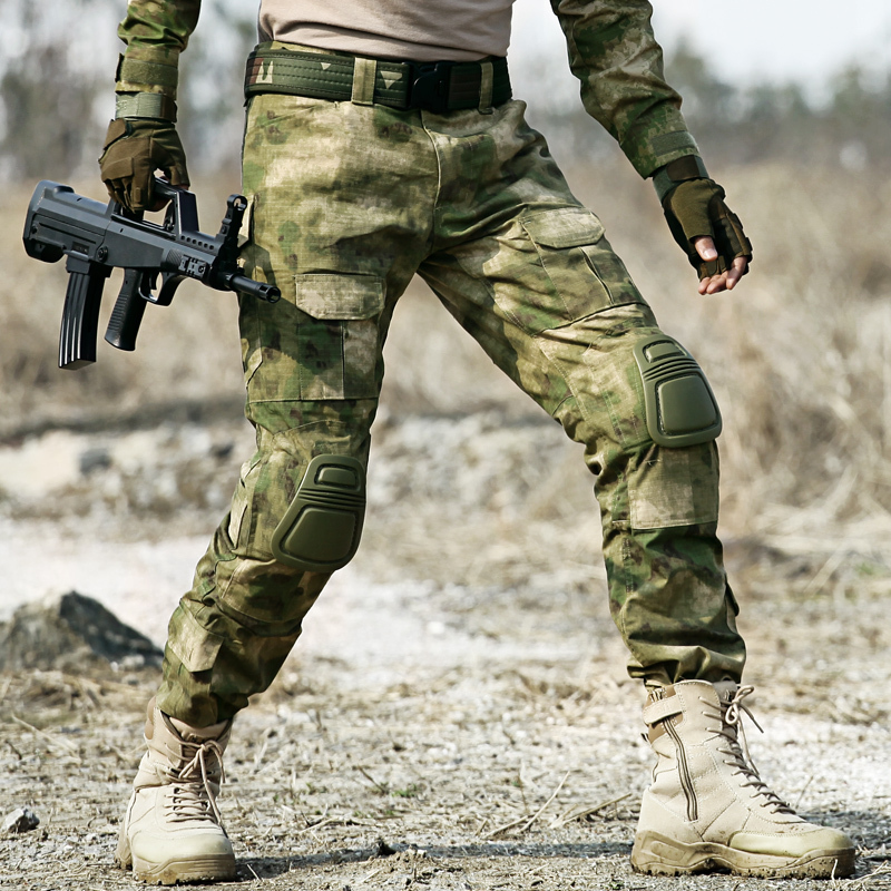 Tactical Camo Lastbyxor Knäkuddar Män Armé Militär Combat - Herrkläder - Foto 4