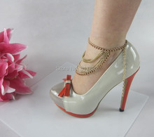 Free Shipping Style L22  Fashion Jewelry Shoe Chain Foot Chains Chains 2 Colours