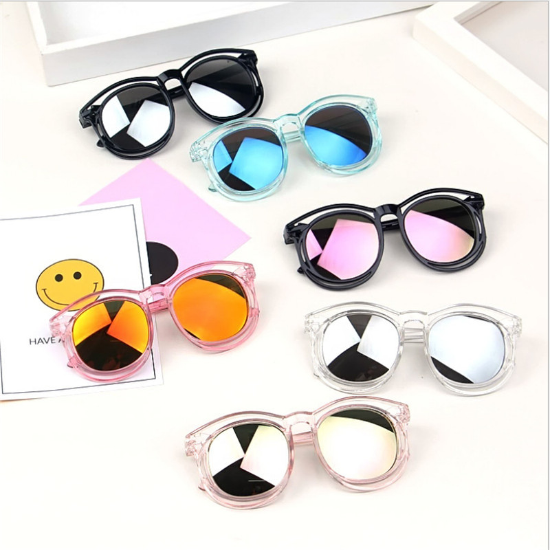 2019 Fashion Kids Baby Girls Boys Summer Sunglasses Solid Frame Goggles Toddler Kid Novelty Toys Accessories Eyeglasses Outwear