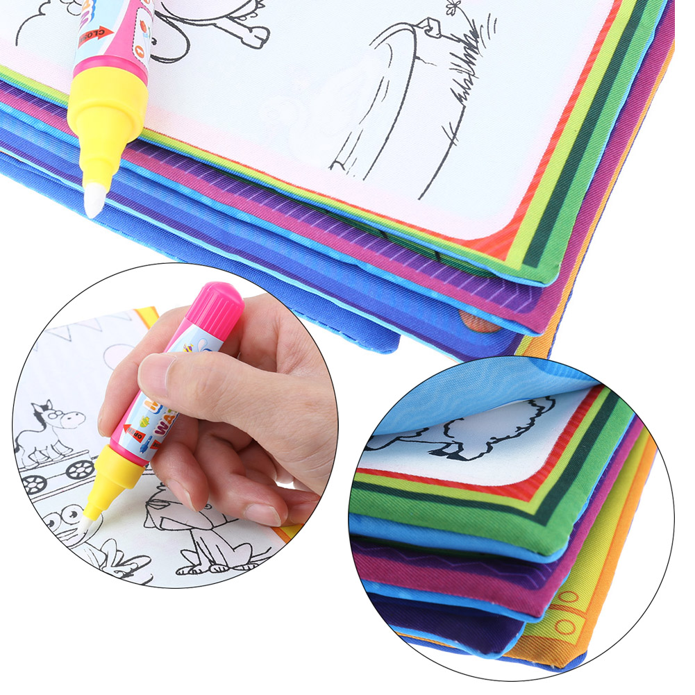 New-Kids-Magic-Water-Drawing-Book-Animals-Painting-Water-Coloring-Cloth-for-Children-Drawing-Early-Educational-Toy-1