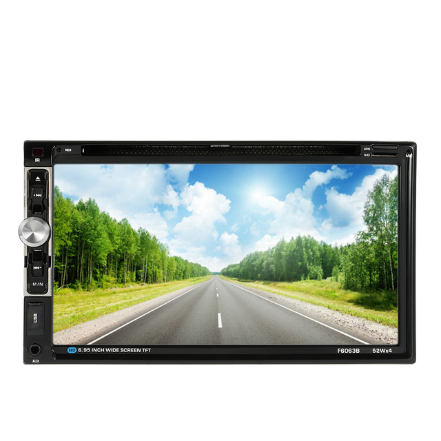 "7"" Universal 2 Din HD Bluetooth Car Stereo DVD CD Player Touch Screen Radio Entertainment Multimedia USB/TF FM Aux Input TV"