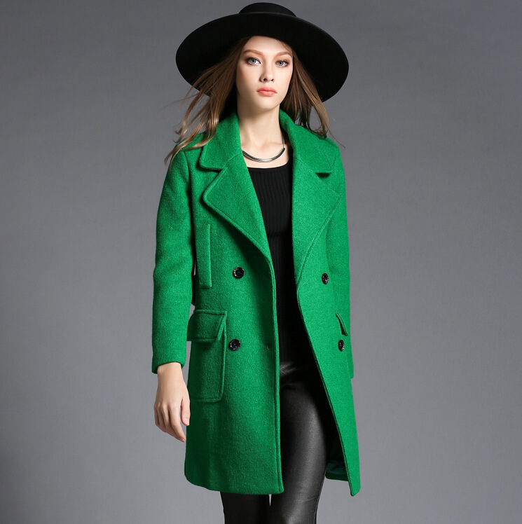 Popular Green Cashmere Coat-Buy Cheap Green Cashmere Coat lots ...