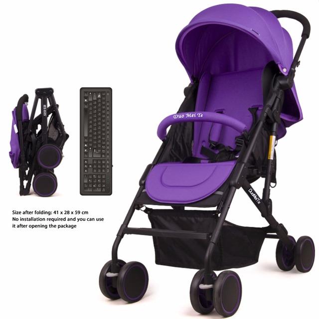DuoMeiTe Transporte Bebê Carrinho De Bebê Guarda-chuva Criança Luz Do Carro Carrinho de Bebê Dobrável Quatro Redonda Dobrável Carrinhos para Recém-nascidos