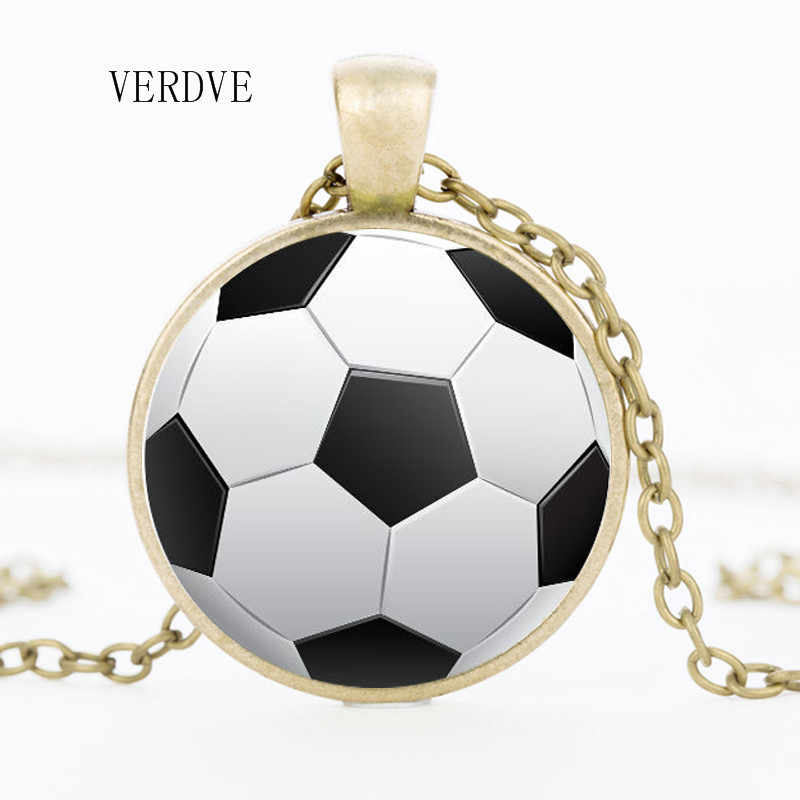 VERDVE 2018 nuevo basquetbol de moda baloncesto béisbol fútbol foto cristal colgante collar joyería
