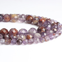 LanLi  natural jewelry 6/8/10mm Purple ghost loose Beads DIY men and women Bracelet Necklace anklet Accessories