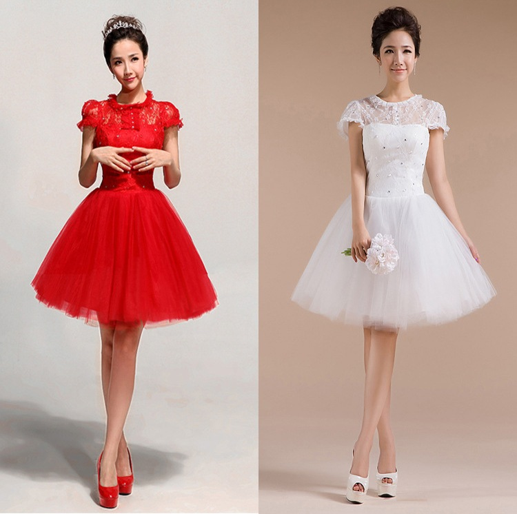 Shanghai Story fashion Red Lace short fashion sexy dress for ...