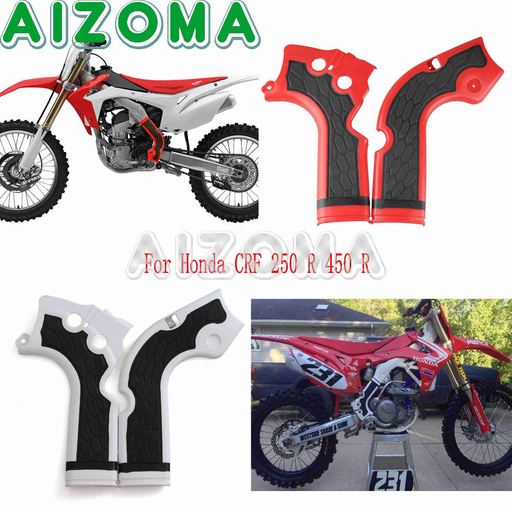 2015 Honda Dirt Bikes 250cc Hot Sale Motorcycle Frameguards Motocross Bike Protector For Crf 250 R 2014 2016 450 2013 Red White