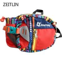 Multi function large capacity water bottle waist bag travel tear resistant fanny pack men women casual polyester belt bag S729