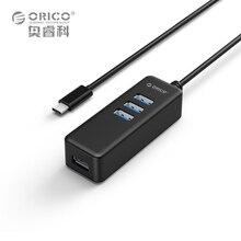 ORICO W10PH4-C3 USB HUB Mini 5 Гбит Super Speed 4 ПОРТА USB 3.0 порты Типа с Hub ABS Расширение USB для Windows Mac OS Linux Android4.2