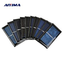AIYIMA 10Pcs 0.5V 500mA Solar Panels Polycrystalline Silicon Flexible Solar Power Charger 65*35MM DIY Portable Solar cells