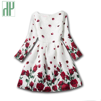 5 12years Girls Clothes Long Sleeve Floral Dress Girls Autumn Spring Princess Costume Tutu Party Kids