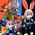 4pcs/set Zootopia Nick Wilde Embroidery Judy Hopps Plush Toy Stuffed Animals Cartoon Dolls Animation Toys Children Gift 22/28CM