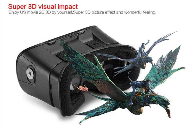 2016 New VR Self-Model Polarized Google Oculus Rift Cardboard Virtual Reality DK2 Gear 3D Glasses for 4.0-6.0 inch Smartphone (3)