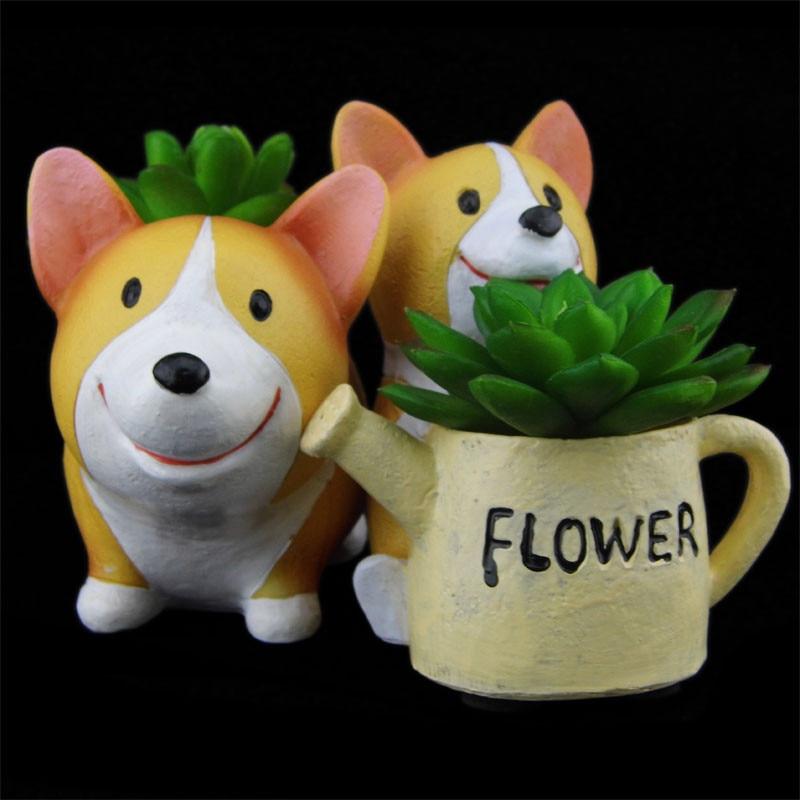 perro recipiente maceta macetas de bonsai en miniatura ornamento flor en maceta artesanal suculentas cactus