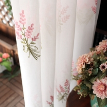 Embroidered Curtain, Pastoral Bedroom, Floating Window, Living Room, Aesthetic and Romantic Finished Curtain