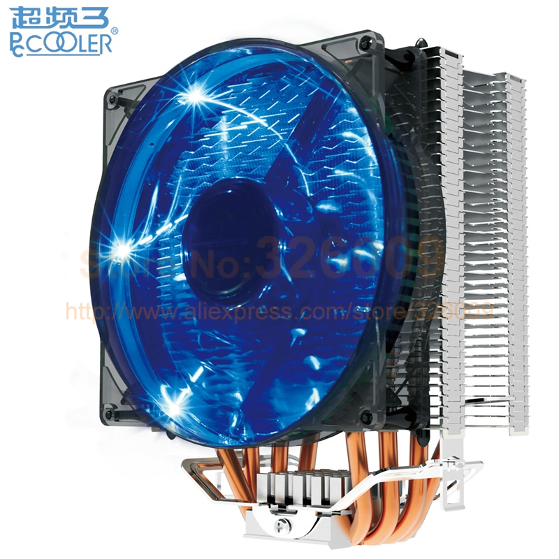 PcCooler S129 X4 CPU radiator cooling fan 12cm fan 4pin PWM for Intel LGA775 1150 1151 1155 1156 2011 for AMD AM3+ FM1 FM2 akasa cooling fan 120mm pc cpu cooler 4pin pwm 12v cooling fans 4 copper heatpipe radiator for intel lga775 1136 for amd am2